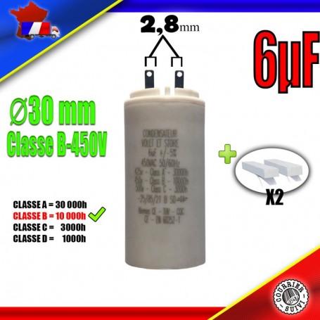 Condensateur de démarrage de 6μF (6uF) pour moteur volet roulant - store de marque SIMU