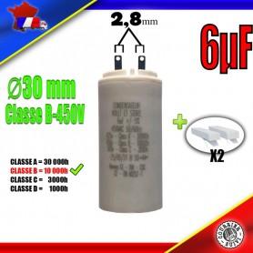 Condensateur de démarrage de 6μF (6uF) pour moteur volet roulant - store de marque BUBENDORFF