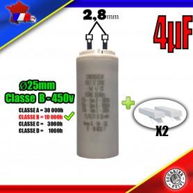Condensateur de démarrage de 4μF (4uF) pour moteur volet roulant - store de marque SOMFY
