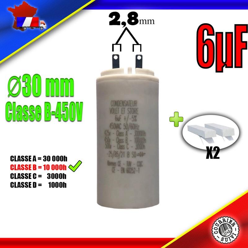 6uF moteur volet roulant de marque Euromatik Condensateur de démarrage 6μF