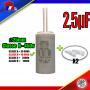 Condensateur de démarrage de 2,5μF (2,5uF) à fils pour moteur volet roulant - store de marque BUBENDORFF