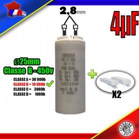 Condensateur de démarrage de 4μF (4uF) pour moteur volet roulant - store de marque BULDING PLASTIC