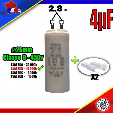 Condensateur de démarrage de 4μF (4uF) pour moteur volet roulant - store de marque EUROMATIK